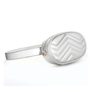 Handbags - Fashion Silver Fanny Pack